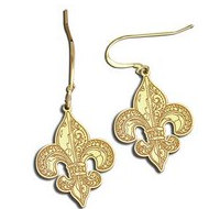 Fleur de Lis Earrings   w  Kidney Wire