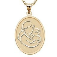 Mother and Son   Oval Pendant