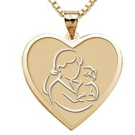Mother and Son - Heart Pendant