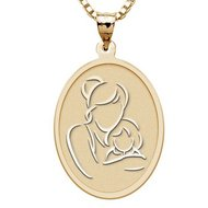 Mother and Daughter   Oval Pendant