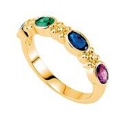 Mother s Ring with Four Birthstones