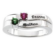 2 Stone Mother s Personalized Ring