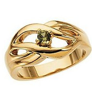 Single Birthstone Mother s Ring