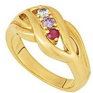 Three Birthstones Mother s Ring