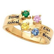 4 Stone Mother's Personalized Ring