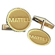 Outlined Cufflinks Logo Jewelry