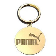 Round Key Chain Logo Jewelry