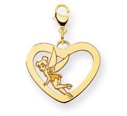 Disney Tinker Bell Lobster Clasp Heart Charm
