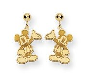 Disney Waving Mickey Mouse Dangle Post Earrings