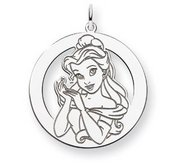 Sterling Silver Belle Round Charm