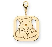 Disney Winnie the Pooh Lobster Clasp Medium Square Charm