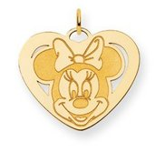 Disney Minnie Mouse Heart Large Charm