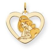 Disney Princess Jasmine Heart Charm