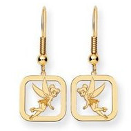 Disney Tinker Bell Shepherd Hook Square Earrings