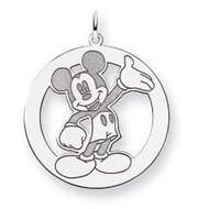 Sterling Silver Disney Waving Mickey Mouse Charm