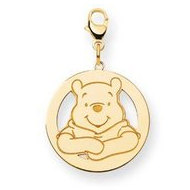 Disney Winnie the Pooh Medium Round Lobster Clasp Charm