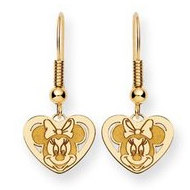 Disney Minnie Mouse Shepherd Hook Earrings