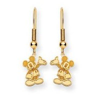 Disney Waving Mickey Mouse Shepherd Hook Earrings