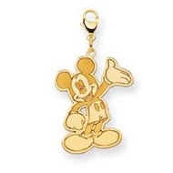isney Waving Mickey Mouse Lobster Clasp Charm