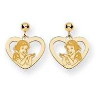 Disney Snow White Dangle Post Earrings