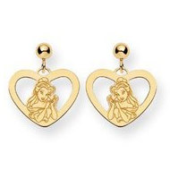 Disney Belle Dangle Post Earrings
