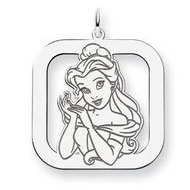 Sterling Silver Belle Square Charm