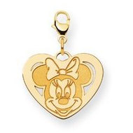Disney Minnie Mouse Medium Heart Lobster Clasp Charm