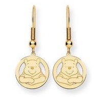 Disney Winnie the Pooh Round Shepherd Hooks Earrings