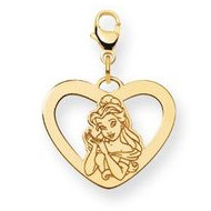 Disney Belle Lobster Clasp Heart Charm