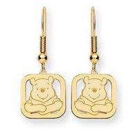 Disney Winnie the Pooh Square Shepherd Hook Earrings