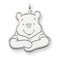 Sterling Silver Disney Winnie the Pooh Large Charm