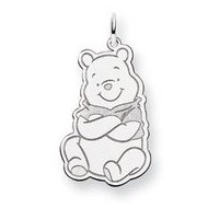 Sterling Silver Winnie the Pooh Large Charm