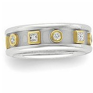 TWO TONE DIAMOND ETRUSCAN BAND