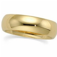 14k Yellow Gold 6mm Half Round Wedding Band