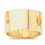 14k Yellow Gold 10mm Flat Wedding Band