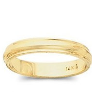 14k Yellow Gold 4mm Domed Series Wedding Band