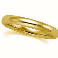14k Yellow Gold 3mm Comfort Fit Wedding Band