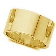 14k Yellow Gold 8mm Flat Wedding Band