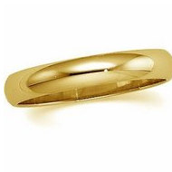 14k Yellow Gold 4mm Half Round Wedding Band