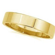 14k Yellow Gold 3mm Flat Wedding Band