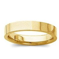 14k Yellow Gold 3mm Tapered Polished Wedding Band