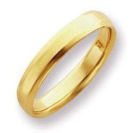 14k Yellow Gold 4mm Beveled Edge Wedding Band