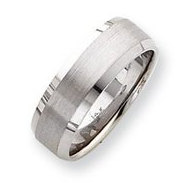 14k White Gold Satin Finish 7mm Wedding Band