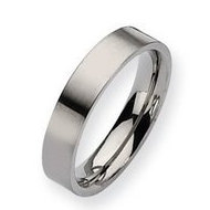Titanium 5mm Brushed Flat Wedding Band