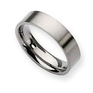 Titanium 6mm Brushed Flat Wedding Band