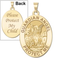 Guardian Angel  Protect My Child  Double Sided Medal   EXCLUSIVE