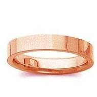 14k Rose Gold 3mm Tapered Satin Finish Wedding Band