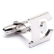 Genuine Sterling Silver Letter  E  Cufflinks