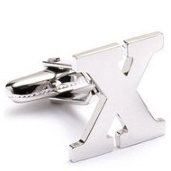 Genuine Sterling Silver Letter  X  Cufflinks