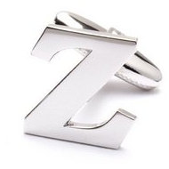 Genuine Sterling Silver Letter  Z  Cufflinks